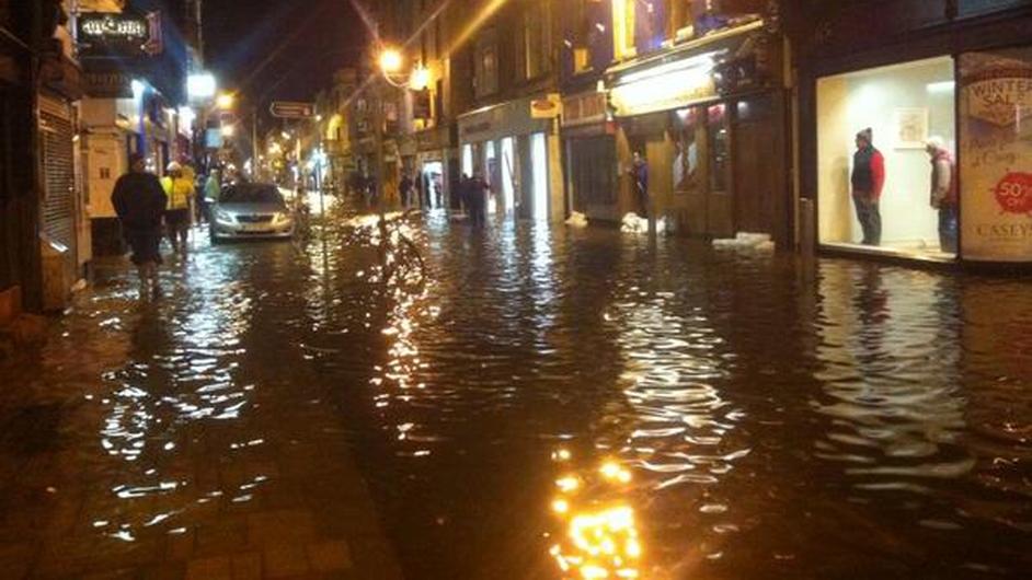 Flooding on Oliver Plunkett Street