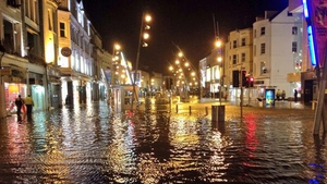Much of St Patrick's Street was flooded