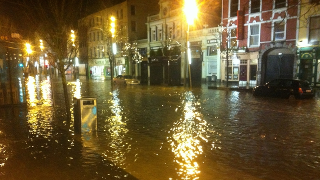Cork's Grand Parade 30 minutes after high tide