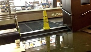 A McDonald's in Cork was among the businesses hit with flooding