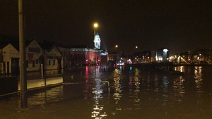 Lights reflected in the flood water (Pic: Niall O'Dowling)