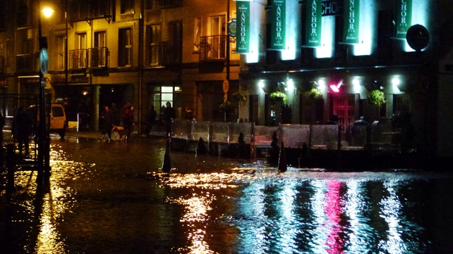 Streets in Dungarvan were under water last night (Pic: Comeragh Photo)
