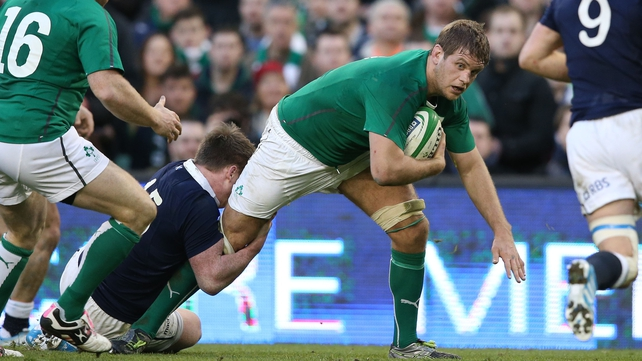 Flanker Chris Henry got the nod to fill injured Sean O'Brien's boots against Scotland