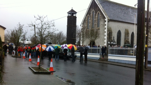 The funeral mass was held in St Lazerian's Church in Leighlinbridge