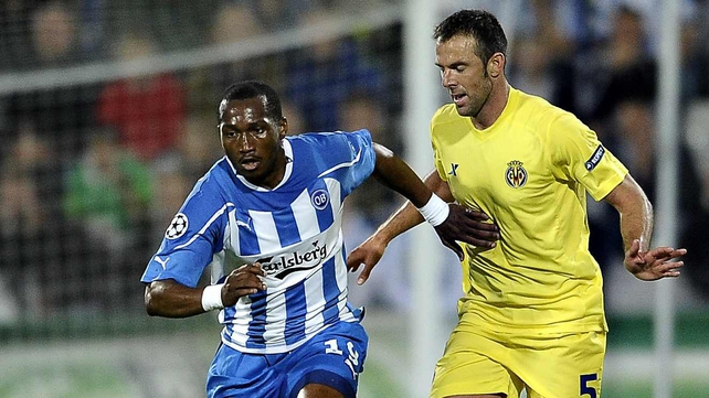 Eric Djemba-Djemba in action for Odense