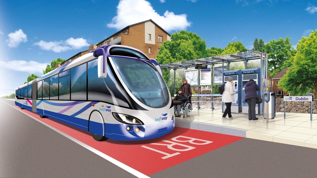 Three Bus Rapid Transit (BRT) routes are planned
