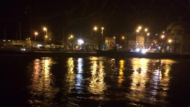 High water in the River Slaney in Enniscorthy
