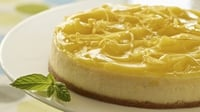 Lemon tart with lemon ice-cream and candied julienne - Lemon tart on sweet short-crust pastry
