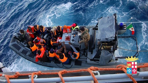 The Italian navy rescued 233 migrants off Lampedusa in early January