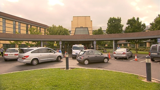 Health Crisis: Patient on Trolley in Tallaght