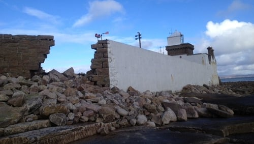The Blacksod Lighthouse in Mayo was damaged in last year's storms