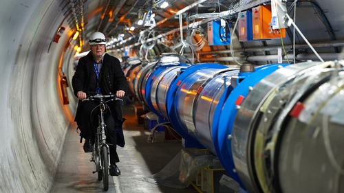 Even the Large Hadron Collider is so big that scientists use bikes to get around (Pic: EPA)