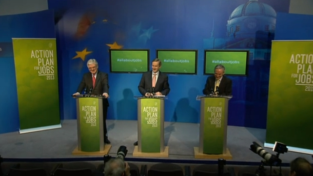 Tánaiste Eamon Gilmore, Taoiseach Enda Kenny and Minister Richard Bruton held a press conference on the initiative this morning
