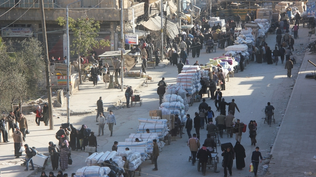 In Aleppo, there has been a mass exodus from the worst-hit neighbourhoods in the east of the city