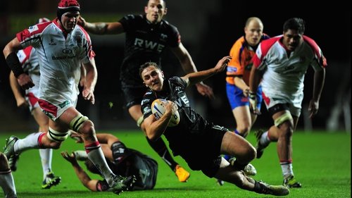 Ospreys centre Ashley Beck is one of the more experienced visitors to Ravenhill