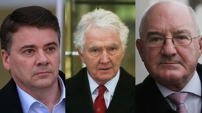 Patrick Whelan, Seán FitzPatrick,  and William McAteer have denied giving illegal loans to 16 people to buy shares in Anglo