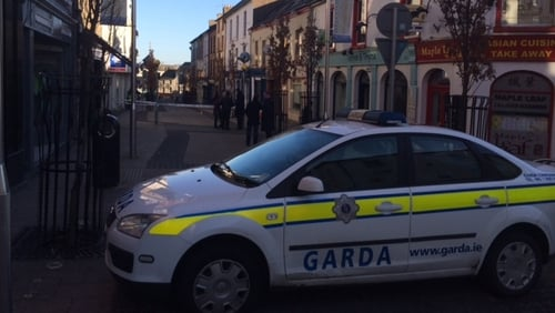 Gardaí from Enniscorthy Garda Station arrived on the scene and confronted the raiders
