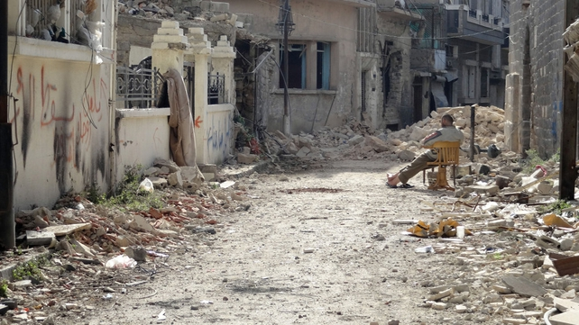 City of Homs has been devastated during Syria conflict