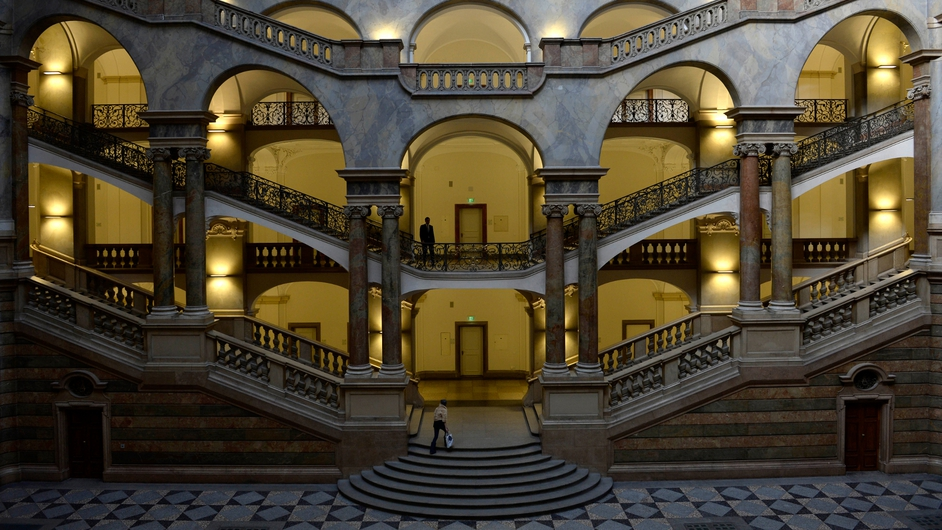 An internal view of the court house 'Justizpalast' in Munich, southern Germany