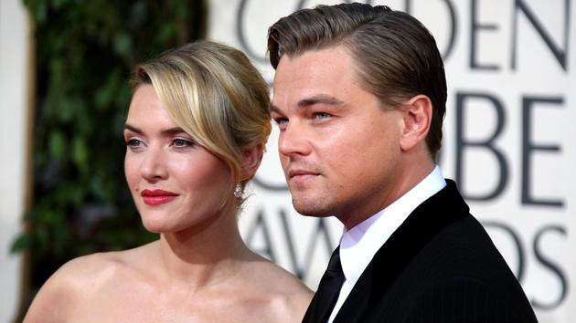 Kate Winslet and Leonardo DiCaprio at the 2009 Golden Globe Awards