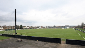 The pitch in Ruislip is water-logged