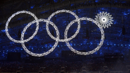During the ceremony one of the Olympic rings failed to open
