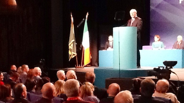 Martin McGuinness addressed Sinn Féin delegates in Wexford
