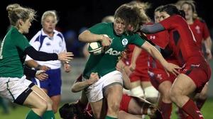 Jenny Murphy of Ireland on the attack