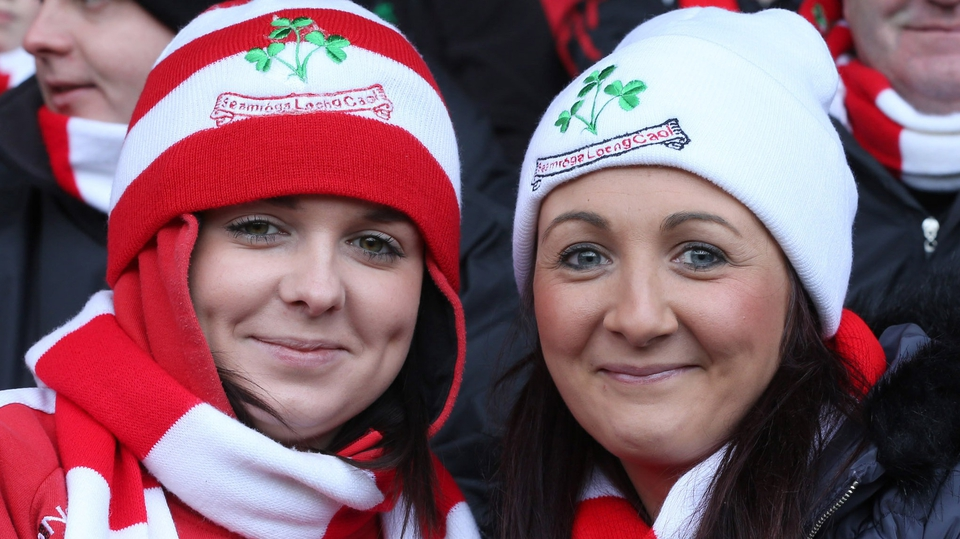 Loughgiel Gaels fans Nicole McKeown and Leona Laverty