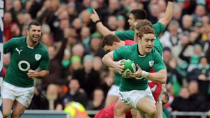 Paddy Jackson scores against Wales last year