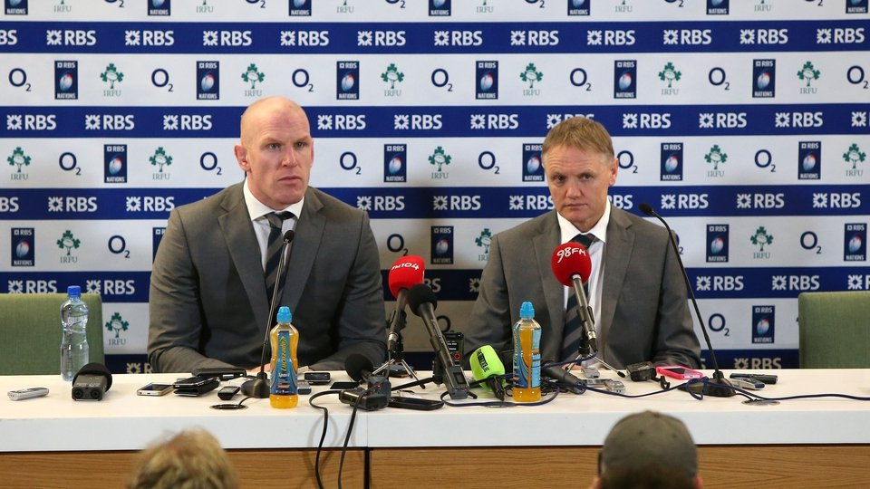 The Ireland leaders talk to the press after the game