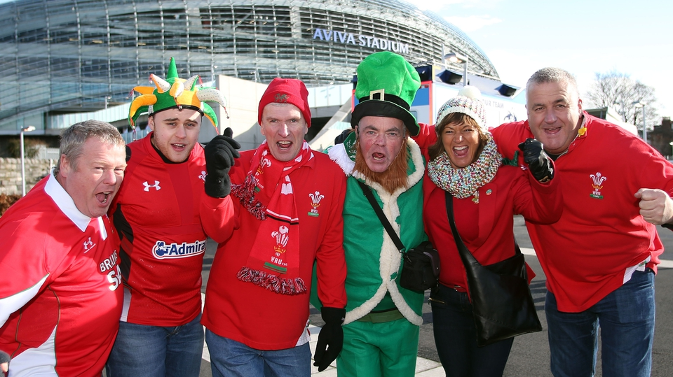 Wales fans were in an optimistic mood ahead of kick-off