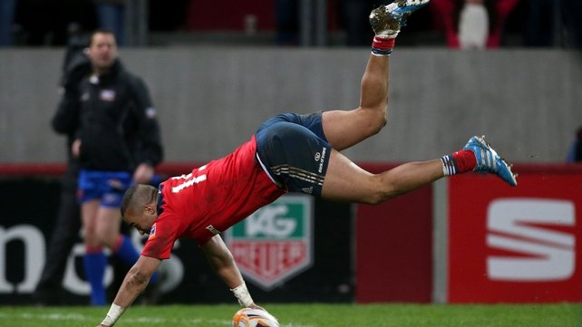 Simon Zebo touched down for a try in the 64th minute