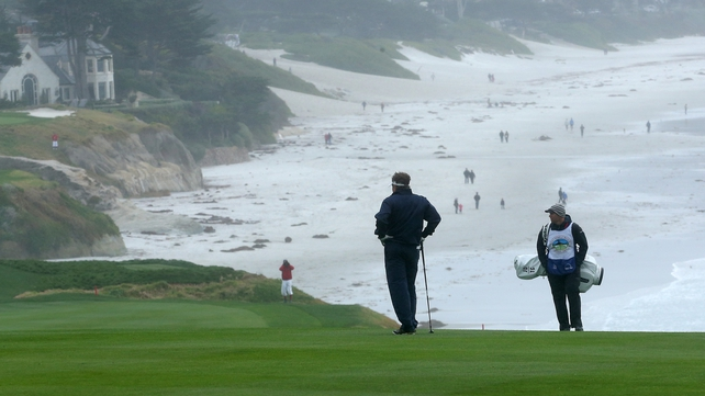 New England Patriots coach Bill Belichick ponders a difficult approach on the Monterey Peninsula course