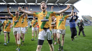 Two Mile House celebrate their All-Ireland Junior Club Football Championship victory at HQ