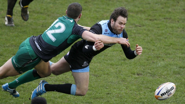 Connacht's Craig Ronaldson tackles Warriors' Ruaridh Jackson