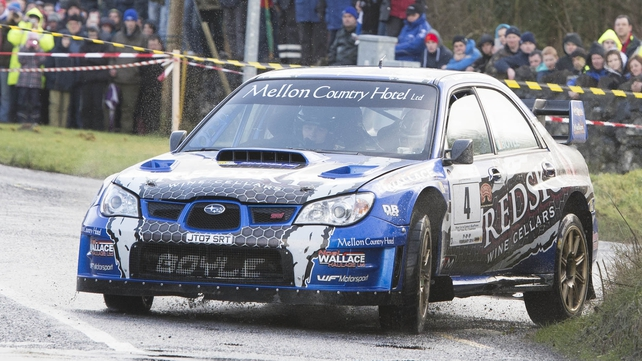Declan Boyle on his way to victory in his Subaru WRC