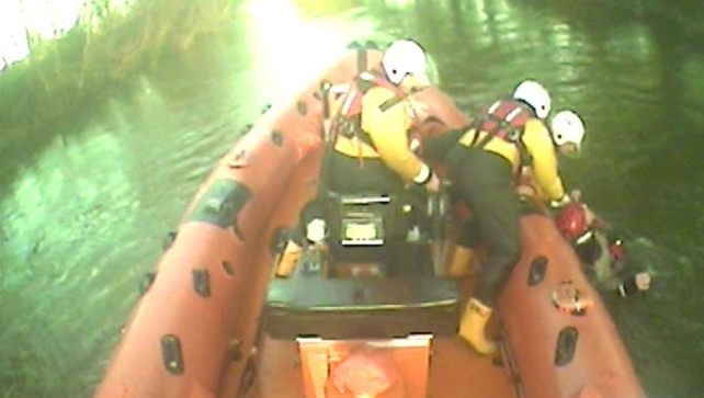 RNLI crew rescued a man who got into difficulties on the Nenagh River
