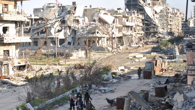 Around 1,000 people managed to leave besieged areas of Homs