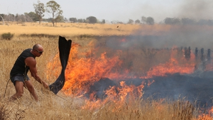 Residents have tried to stop the fires spreading