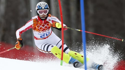 Maria Hoefl-Riesch secured gold thanks to her slalom surge
