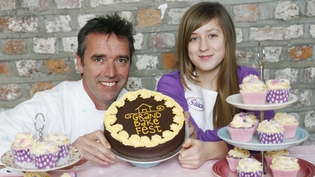 Kevin Dundon and 11 year old Sarah O'Hara who was crowned Ireland's Best Young Baker by RTÉ