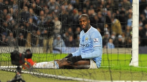Yaya Toure wasn't happy as Man City were beaten by Chelsea at the Etihad