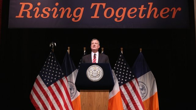 Bill de Blasio gave a 'state of the city' speech at Queens College
