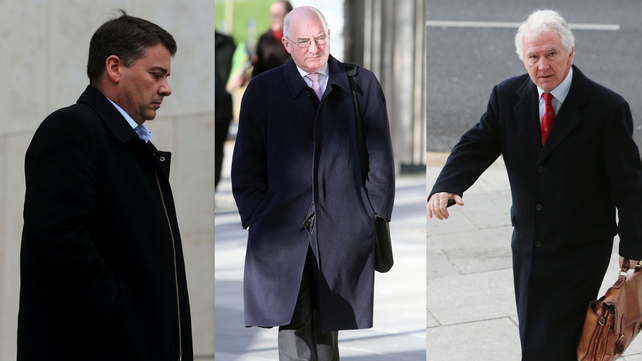 Pat Whelan, William McAteer and Seán FitzPatrick have pleaded not guilty to the charges