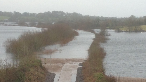 The service had to be closed on 2 February after the line at Ballycar became submerged in 1.5m of water