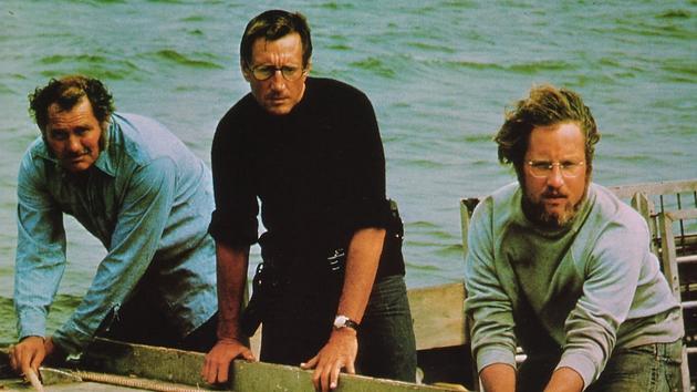 Robert Shaw, Roy Scheider and Richard Dreyfuss in Jaws