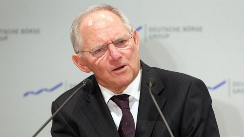 Wolfgang Schaeuble said a rising exchange rate could hurt Europe's economic development
