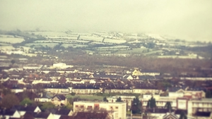 Snowfall on high ground in Co Limerick (Pic: Aoife McLoughlin)