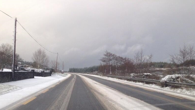 Road conditions on N13, Drumkeen, Co Donegal (Pic: Donegal County Council @RoadsDCC)